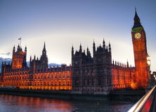 Pałac Westminster. Zdjęcia Stock