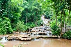 Pa Charoen Waterfall Of Thailand Stock Photo