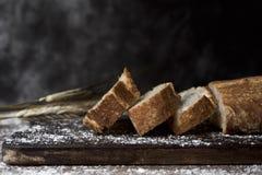 PA de vidre, ett bröd som är typisk av Catalonia, Spanien Royaltyfri Fotografi