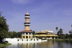 PA di colpo in Royal Palace, Ayutthaya, Tailandia 3 Fotografie Stock Libere da Diritti