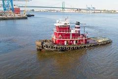 PA do Rio Delaware Philadelphfia do rebocador Foto de Stock Royalty Free