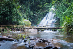Pa dok seaw beautiful waterfall of chaing mai, thailand Royalty Free Stock Images