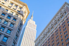 PAŹDZIERNIK 2013 - empire state building i inny drapacze chmur przy Manhattan, Nowy Jork, NY Fotografia Royalty Free
