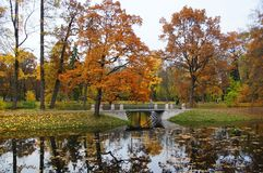 Października wieczór przy Aleksander parkiem Zdjęcie Royalty Free