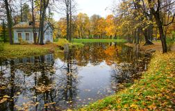 Października wieczór przy Aleksander parkiem Obrazy Royalty Free