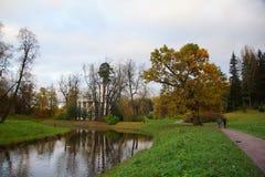 Października wieczór w Pavlovsk parku Obrazy Royalty Free