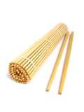 pałeczki bambusowa mata Zdjęcie Stock