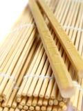 pałeczki bambusowa mata Zdjęcie Royalty Free