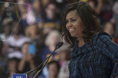 PA: First Lady Michelle Obama for Hillary Clinton in Philadelphia Stock Images