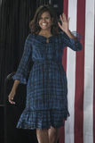 PA: First Lady Michelle Obama for Hillary Clinton in Philadelphia. 27 September 2016 - Philadelphia ,USA - First Lady Michelle Obama holds campaign rally for royalty free stock photo