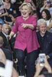 PA: Hillary Clinton Campains-verzameling n Philadelphia Stock Foto's