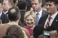 PA: Hillary Clinton Filadelfia rejestr wyborczy Zdjęcie Stock