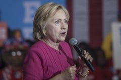 PA: Hillary Clinton Filadelfia rejestr wyborczy Zdjęcia Stock