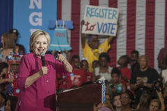 PA: Hillary Clinton Philadelphia Voter Registration. 16 August 2016 - Philadelphia,USA - Hillary Clinton Democratic Presidential Candidate holds voter Stock Image