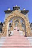 Pa Kung寺庙的砂岩塔在Roi和泰国 有凝思的一个地方 库存照片
