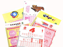 PA Lottery Tickets Royalty Free Stock Photo
