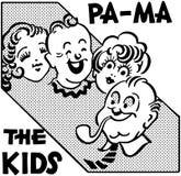 PA MA die Kinder Stockbild