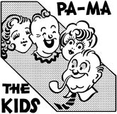 Pa Ma The Kids stock illustration