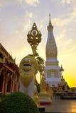 PA-nom de Pra-thart en el tiempo de la puesta del sol, Tailandia Foto de archivo