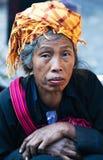 Pa-o mulher tribal, Myanmar Foto de Stock