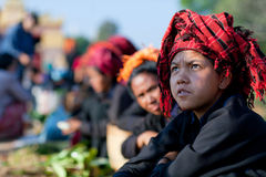 Pa-O tribal girl in Shan state, Myanmar Stock Photography