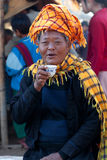Pa-O tribal women in Shan state, Myanmar Royalty Free Stock Photo