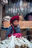 Pa-O tribe girl, Burma Royalty Free Stock Photography