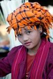 Pa-O tribe girl, Myanmar Royalty Free Stock Photos