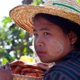 Pa-O tribe girl, Myanmar Stock Images
