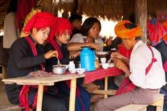 Pa-O tribe people, Inle Lake royalty free stock photos