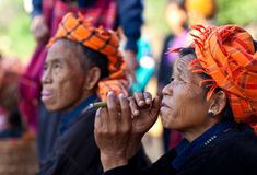 Pa-O tribe people, Myanmar Stock Photos