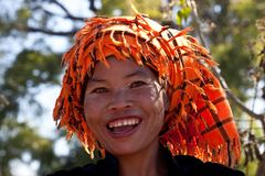 Pa-O tribe woman with betel pack, Myanmar Stock Photos