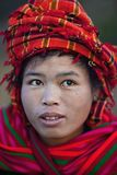 Pa-O tribe woman, Myanmar Royalty Free Stock Photography