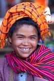 Pa-O tribe woman, Myanmar Stock Image