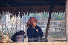 Pa-O tribe woman, Myanmar Royalty Free Stock Photography