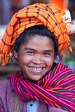 Pa-O tribe woman, Myanmar Stock Photography