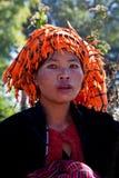 Pa-O tribe woman, Myanmar Royalty Free Stock Photos