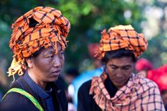 Pa-O tribe women, Myanmar Stock Photo