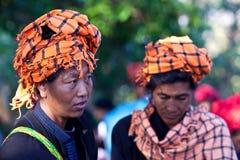 Pa-O tribe women, Myanmar Stock Photo