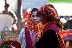 Pa-O tribe women, Myanmar Royalty Free Stock Photography
