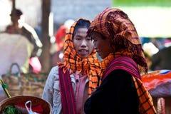 Pa-O tribe women, Myanmar Royalty Free Stock Photography