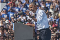 PA: President Barack Obama for Hillary Clinton in Philadelphia. 13 September 2016 - Philadelphia,USA - President Barack Obama campaigns for Hillary Clinton in royalty free stock images