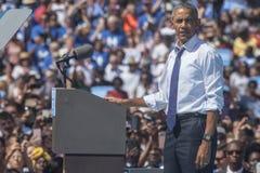 PA: President Barack Obama voor Hillary Clinton in Philadelphia Royalty-vrije Stock Foto