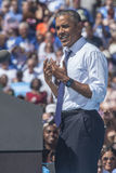 PA: President Barack Obama voor Hillary Clinton in Philadelphia Royalty-vrije Stock Afbeeldingen