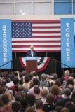 PA: President Bill Clinton voor Hillary Clinton in Blauwe Klok Stock Foto