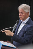 PA: President Bill Clinton voor Hillary Clinton in Blauwe Klok Royalty-vrije Stock Foto