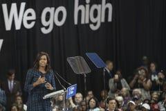 PA: Presidentsvrouw Michelle Obama voor Hillary Clinton in Philadelphia Stock Foto