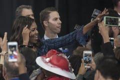 PA: Presidentsvrouw Michelle Obama voor Hillary Clinton in Philadelphia Royalty-vrije Stock Afbeelding