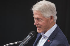 PA: Prezydent Bill Clinton dla Hillary Clinton w Błękitnym Bell Zdjęcia Royalty Free