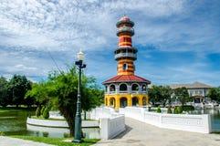 PA real de la explosión de la residencia del verano adentro, Ayutthaya, Tailandia Imagen de archivo libre de regalías